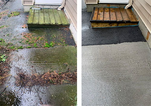 Pressure Washing Services - Before and After